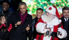 i saw first ladies kissing santa claus and a first dog dressed as