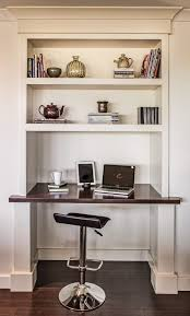 Recessed Computer Desk Built In Desk Ideas Home Office Traditional With White Wood