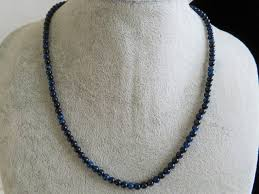 gemstone beaded necklace images Handmade 18 5 quot genuine natural 58ct blue tiger eye beads necklace JPG