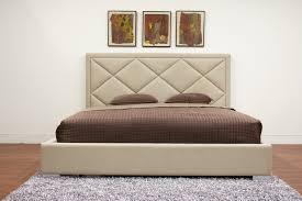 Beige Upholstered Bed Baxton Studio Palomar Beige Fabric Upholstered Modern Bed King Size
