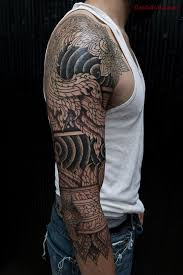 full sleeve nice tibetan tattoo design idea golfian com
