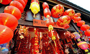 Lunar New Year Decorations by People Busy Decorating House To Welcome Chinese Lunar New Year
