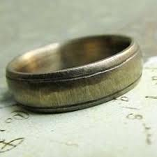 rustic mens wedding bands hammered brass band distressed wedding ring rustic mens wedding