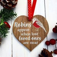 robins appear when lost love ones are near memorial christmas