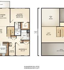 2 bedroom with loft house plans master bedroom plan and elevation home plans ideas