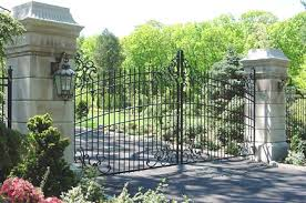 winsome wrought iron fence ornaments for fence gate