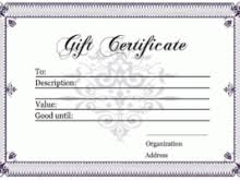 dental gift certificate template free resume