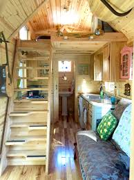this tiny trailer home has a tub tiny house details