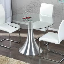 design glastisch runder design glastisch 110 cm sicherheitsglas aluminium