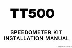 yamaha tt500 speedometer kit manual xt tt 500 qlit1 ebay