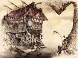 Design Your Own Home Landscape Steampunk Landscape By Grimdreamart House Home Gnome Player