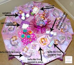 sofia the first table sofia the first table set sofia the first themed party cape town