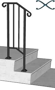 Handrailing Diy Iron X Handrail Picket 1 Fits 1 Or 2 Steps Amazon Com