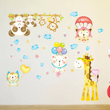 wall sticker decoration cheap china online china buy suppliers home fridage wall room pegatinas diy removable wallpaper lovely monkey giraffe wall stickers cartoon animals decal