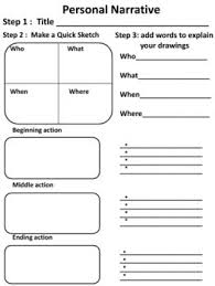 personal narrative graphic organizer picmia