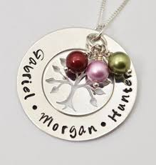 personalized family tree necklace personalized mothers family tree necklace sted
