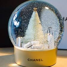 limited edition chanel snowglobe with battery powered moving snow