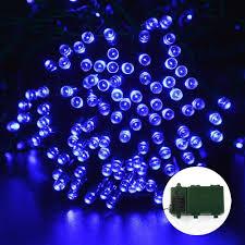 Battery Outdoor Christmas Lights by Ledertek Battery Operated Christmas Lights 200 Led Blue