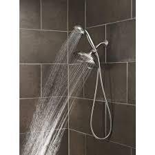 bathroom moen shower head plus dark tile wall also moen refresh 7