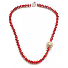 large red bead necklace images Valentines day gift for her herbal jewellery natural seeds ethnic jpg