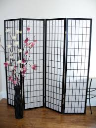 panel room divider shoji black 4 panel room divider or screen the original screen