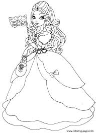 apple white thronecoming doll coloring pages printable