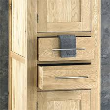 Oak Bathroom Cabinets by Bathroom Cabinet Unit Storage White Wood Cupboard Free Standing