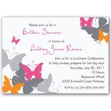 cheap bridal shower invitations butterflies grunge orange bridal shower invitations paperstyle