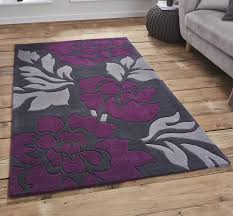 Www Modern Rugs Co Uk Modern Rugs Co Uk Hong Kong 33l Grey Purple Image 1 Home