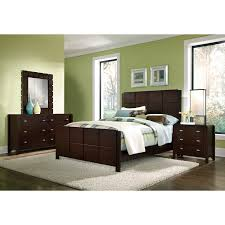 King Bedroom Sets Furniture Mosaic 6 Piece King Bedroom Set Dark Brown Value City Furniture
