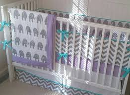 Purple And Aqua Crib Bedding Baby Bedding Crib Sets Gray Aqua And Light Purple Elephant