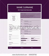 Minimalist Resume Vector Minimalist Cv Resume Template Color Stock Vector 266532086