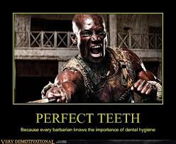 Flossing Meme - perfect teeth very demotivational demotivational posters very