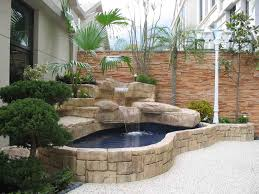 backyard fish pond ideas with small garden home furniture