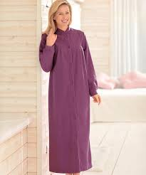 peignoir de chambre robe de chambre en molleton polaire 130 cm vison femme damart