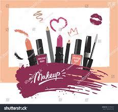 makeup artist business card vector template stock vector 454734970