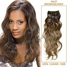 remy human hair extensions inch 4 27 brown wavy clip in remy human hair extensions 9pcs