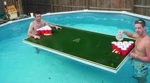 floating table for pool custom beer pong table for your pool beer pong table designs
