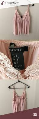 light pink tank top forever 21 lace tanktop light pink very cute lightly worn forever 21 tops