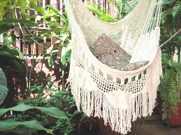 Brazilian Hammock Chair Hammock Chair White Hammock Chair With Fringe And Loose