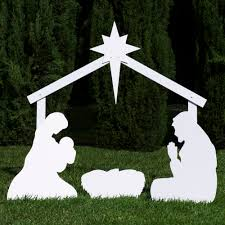 the holy family outdoor nativity sets holy family and silhouettes