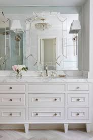 Mirror On Mirror Bathroom Master Bathroom With Mirror On Top Of Mirror Transitional Bathroom