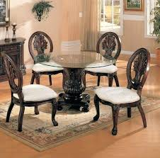 Glass Top Pedestal Dining Room Tables Glass Top Dining Set Juniorderby Me