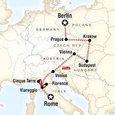 rome on a map rome to berlin on a shoestring in italy europe g adventures