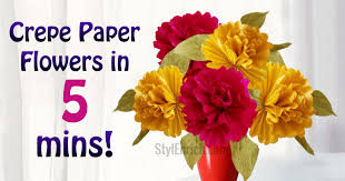 crepe paper flowers diy easy paper flowers home decor project