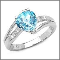 used wedding rings pre owned used blue topaz engagement rings