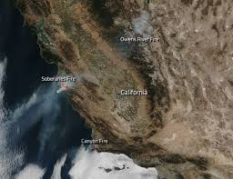 Ca Wildfire Containment by Three California Wildfires Still Burning Landscape Nasa