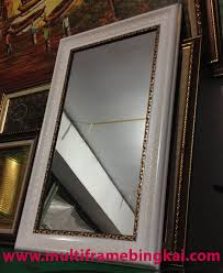 Tempat Jual Cermin Hias Di Jakarta terjual kaca cermin rias bingkai frame pigura minimalis 42 x 80 cm