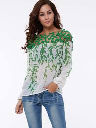 green womens blouse boat neck shoulder hollow lace s vacation blouse boat