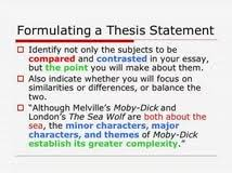 writing a comparative thesis statement 100 original